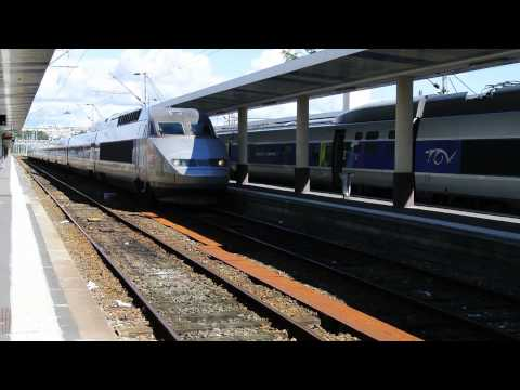 TGV Entering Brest Railway Station, France