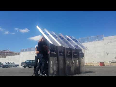 Çevik Kuvvet kalkan çatı eğitimi