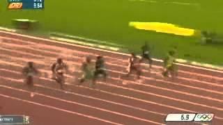 Легкая атлетика. Рекордный забег на 100 метров Усейна Болта.
