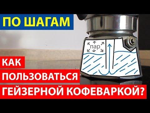 Как пользоваться кофеваркой гейзерного типа