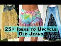 - IDEAS TO UPCYCLE OLD JEANS | HOW TO UPCYCLE OLD CLOTHES