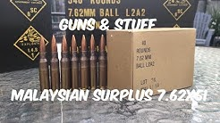 Malaysian Surplus 7.62x51 review (with Chronograph and target cam)