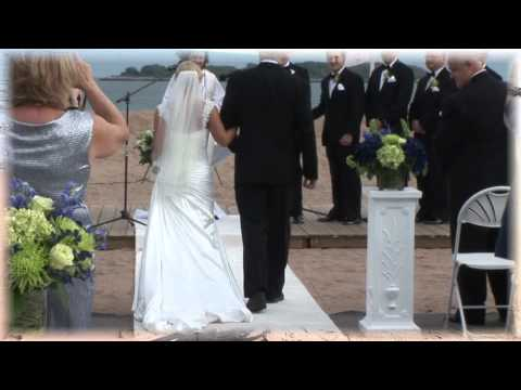 Wedding ceremony on the beach with classical guitar