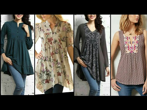 Outstanding And Trendy Unique Style Tunic Top/Shirts Design For Stylish Girls