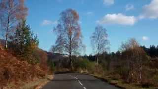 Autumn Drive Dukes Pass Trossachs Scotland