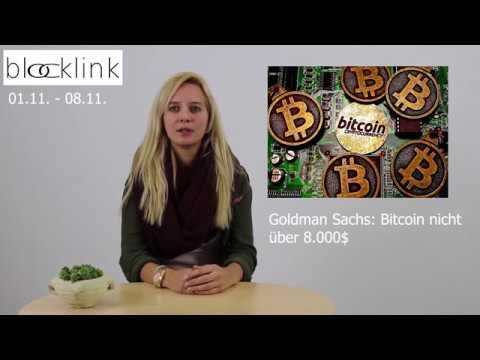 blocklink news| G.Sachs: Bitcoin nicht über 8.000$| Allianz entdeckt BChain |BChain & Gesundheitss.