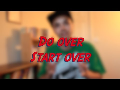 Do over - Start over - W23D7 - Daily Phrasal Verbs - Learn English online free video lessons