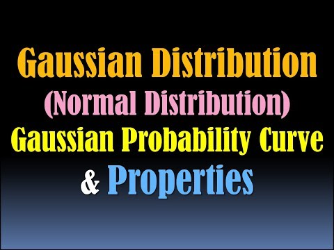 Gaussian Distribution - Normal Distribution - Normal Distribution Curve- Gaussian Probability Curve