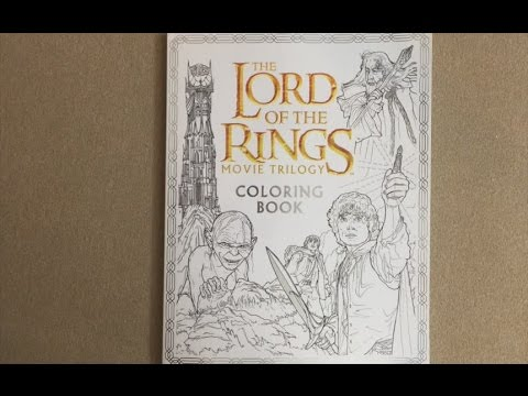 the lord of the rings movie trilogy coloring book flip through - Lord Of The Rings Coloring Book