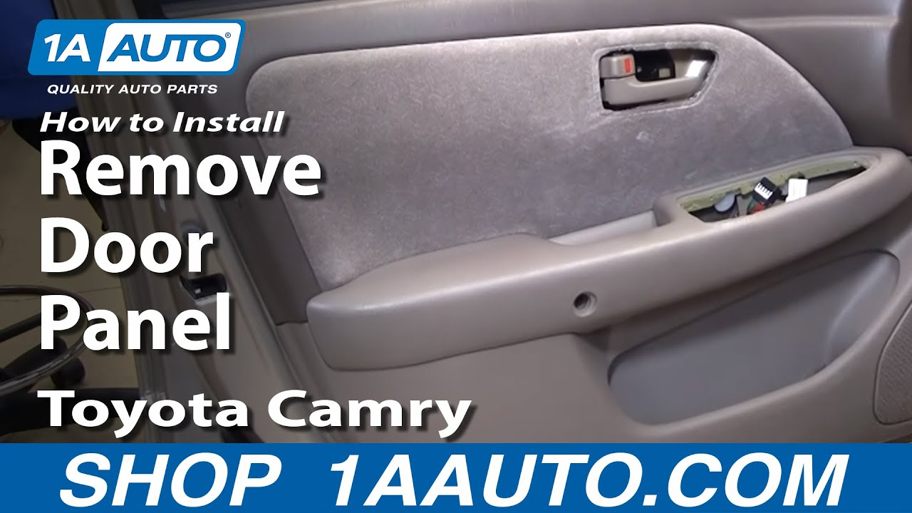 How To Install Replace Remove Door Panel Toyota Camry 97-01 1AAuto ...