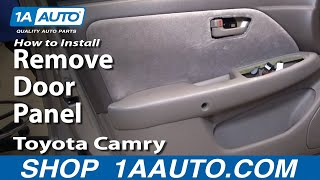 How To Install Replace Remove Door Panel Toyota Camry 97-01 1AAuto.com
