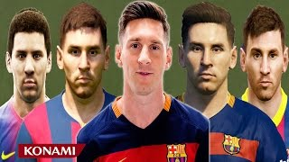 Lionel MESSI from PES 4 to PES 2016 (vs Real Face Comparison)