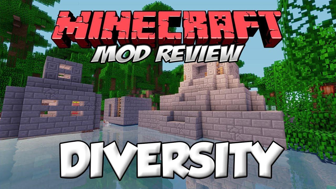 DIVERSITY MOD Nuevas Aldeas Y Aldeanos En Minecraft Forge1710Espaol YouTube