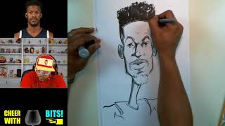 How To Draw A Caricature | Jimmy Butler