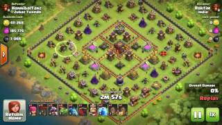 Th9 VS Th10 best air troops combo for de loot