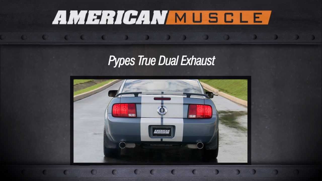 2005 2010 mustang pypes exhaust sound clip true dual v6 review