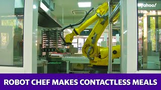 Robot chef makes contactless meals