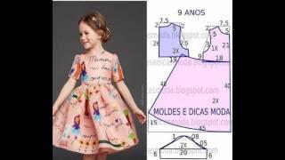 видео Повседневные платья для девочек от 4 до 12 лет
