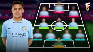 Manchester City Potential Line Up 2017/2018 Revealed With Alexis Sanchez ⚽ Footchampion