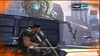 Binary Domain Chapter 2 Boss Spider Gameplay (Xbox360, PS3)