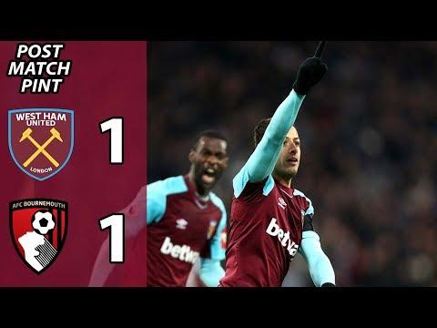 West Ham 1-1 Bournemouth | Post Match Pint