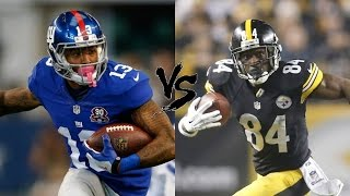 "Odell Beckham Jr Vs Antonio Brown (WHO IS BETTER?) ""Highlights"""
