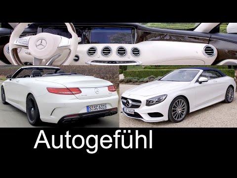 Mercedes S-Class Cabriolet S-Klasse Mercedes-AMG S63 & S500 Preview Sound/Exterior/Interior