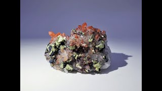 Red Hematite Quartz with Chalcopyrite tinted Tetrahedrite Mineral Specimen from Dongxiang Co.