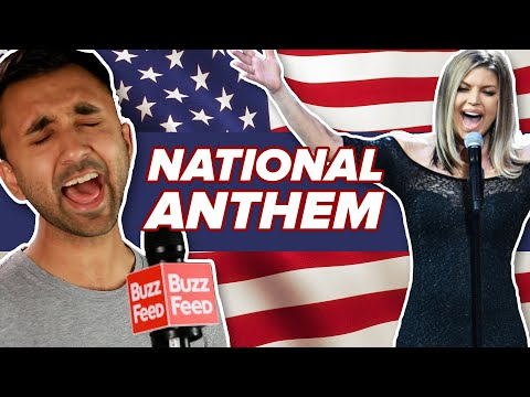 Regular People Try Singing The National Anthem Better Than Fergie
