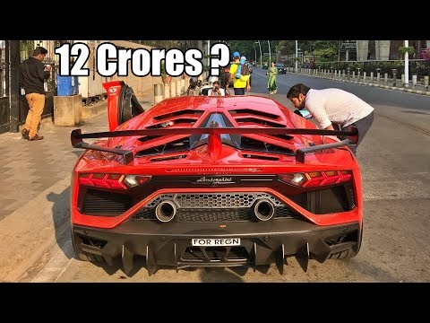 India's Most Expensive Car On Road – Lamborghini Aventador SVJ