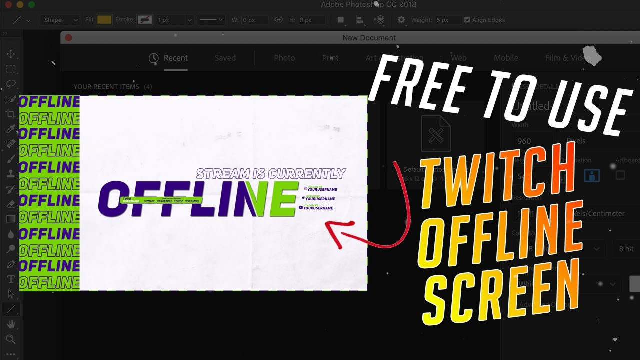 FREE SIMPLE TWITCH OFFLINE SCREEN   SPEEDART - YouTube