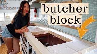 How To Make A BUTCHER BLOCK COUNTER