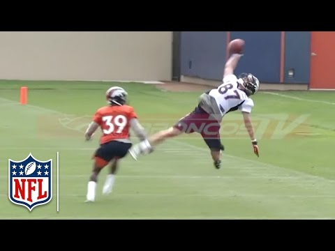 Broncos WR Jordan Taylor Makes Amazing One-Handed Catch! | NFL