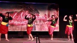 Traditional Nepali Dance - Wari Tuwalo Pari & Reli Khola - Nepal Nite 2016