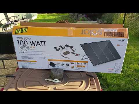 Harbor Freight 100W Solar Kit.  Full Review - Day 1