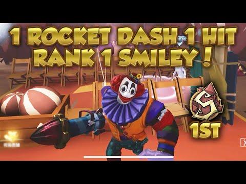 #8 Rank 1 Smiley Face Crazy Rocket Dash Control! | Moonlit River Park | Identity V | 第五人格 | 제5인격