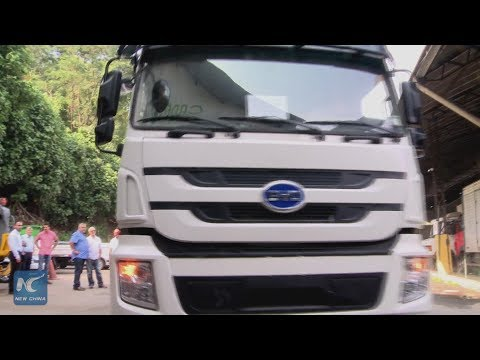 Chinese electric garbage truck making Rio a clean energy powerhouse!