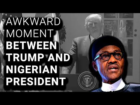 Trump Defends $h!thole Countries Comment Standing Next to Nigerian Leader