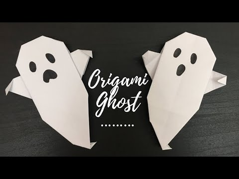 [DIY]Origami Ghost / Paper Crafts For School/ Halloween Crafts For Kids/Halloween Crafts With Paper
