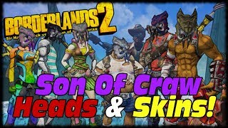 Borderlands 2 New Heads & Skins Hammerlock vs Son Of Crawmerax Headhunter Pack DLC!
