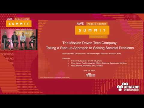 The Mission-Driven Tech Company: Taking a Startup Approach to Solving Societal Problems (119702)