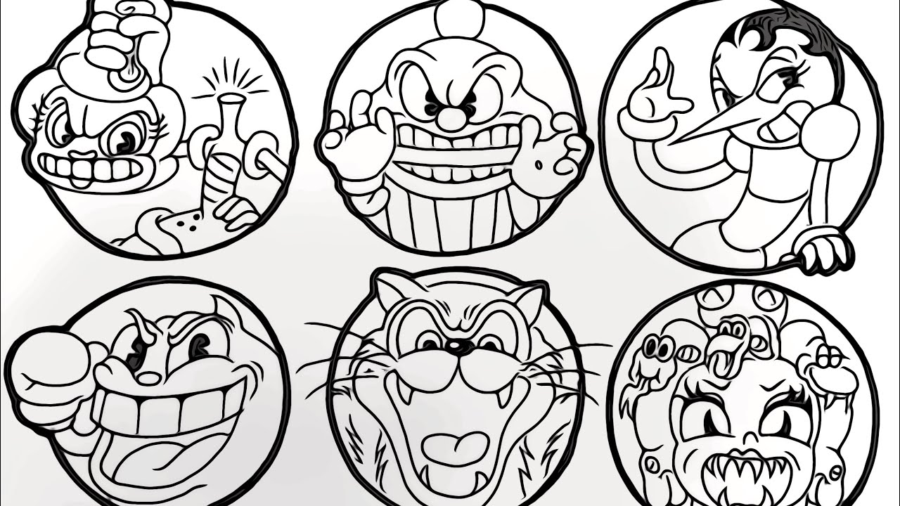 Magical coloring box | Cuphead Characters Coloringpages ...
