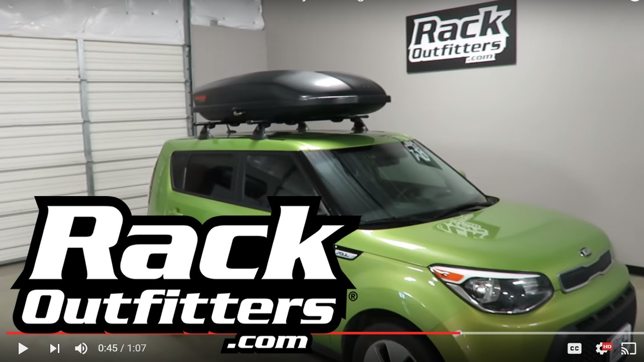 Kia Soul Outfitted With Yakima Roof Rack And Skybox Cargo