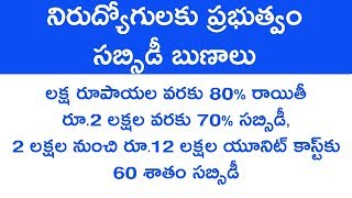 govt subsidy loans in telugu 2018  bc subsidy loans in hyderabad loans in telugu