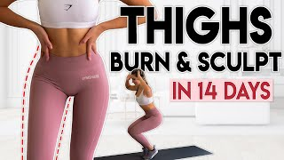 THIGHS BURN & SCULPT in 14 Days | 5 minute Home Workout
