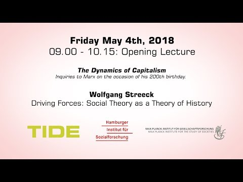 The Dynamics of Capitalism. Opening Lecture