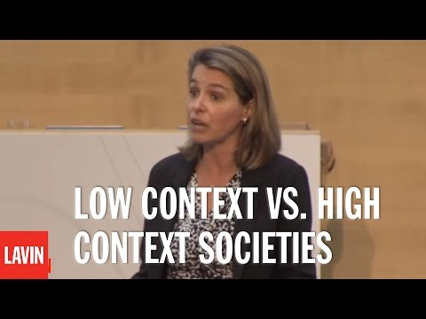 Leadership Speaker Erin Meyer: Low Context vs. High Context Societies