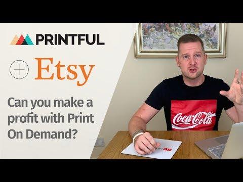 Etsy Printful Setup | Etsy Printful Tutorial  - Selling Print On Demand on Etsy