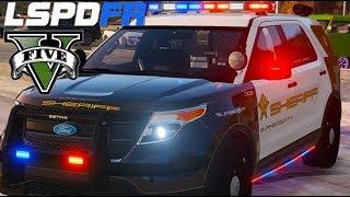 Video GTA V - LSPDFR #151 : SHERIFF | Policial espancado! download MP3, 3GP, MP4, WEBM, AVI, FLV Oktober 2018