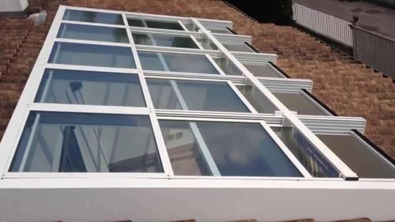 Chiusura copertura apribile motorizzata in alluminio - YouTube
